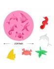 SJ DIY do chrztu syrenka ogon kremówka ciasto dekorowanie narzędzia 3D życie morskie ryby kremówki formy silikonowe kremówki for