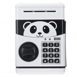 Panda elektroniczna skarbonka ATM hasło skarbonka monety pieniężnych skarbonka banku sejf automatyczny depozyt banknoty prezent