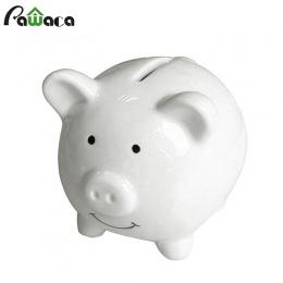 Śliczne Pig Cartoon świnka pudełko na monety świnka skarbonka ceramiczna oszczędzania pieniędzy banku pieniądze Box dla dzieci p