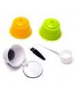 3 sztuk ekologiczny kapsuła do kawy wielokrotnego użytku zestaw Scoop szczotka do tworzywa sztucznego o jakości spożywczej PP fi