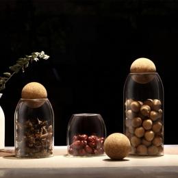 Kreatywna kuchnia butelki do przechowywania dla produktów sypkich słoiki z pokrywką przyprawy cukru do herbaty pojemnik otrzymać