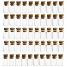 Spadek sam znajdź najtańsze loty, albo 50 sztuk 0.5 ml Mini przezroczysta butelka ze szkła fiolki puste próbki słoiki z korkową
