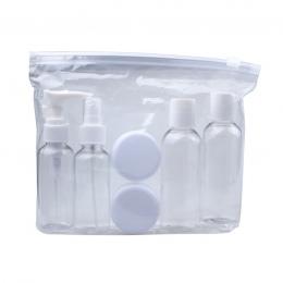 Wysokiej jakości nowe przenośne przejrzyste podróże kosmetyczne butelki punkty butelkowanie sześć Sets5.25B789