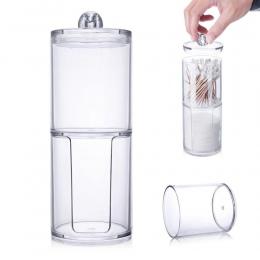 Nowy akrylowe płatki kosmetyczne wacik pudełko do przechowywania płatki kosmetyczne pojemnik zmywacz do paznokci uchwyt na papie