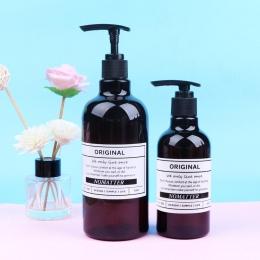Brązowy do kąpieli szampon butelka do przechowywania 250 ml 500 ml 1000 ml Vogue Chic cieczy balsam butelka skandynawski eleganc