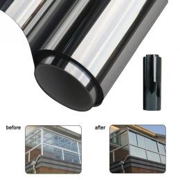 40 cm x 2 m/1 m 50 cm x 2 m/1 m folia okienna lustro półprzepuszczalne srebrny izolacji naklejki odblaskowe słonecznego w akceso