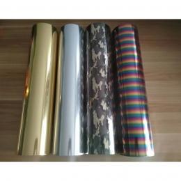 Darmowa wysyłka 1 arkusz 30 cm x 50 cm metalowe i laserowe folia winylowa do przenoszenia za pomocą ciepła kamuflaż Rainbow żela