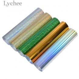 Lychee 30x25 cm Laser naciśnij ciepła transferu winylu brokat pcv dekoracyjne materiały na T-shirt odzież