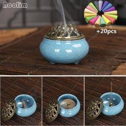 NOOLIM ceramiczne kadzidło palniki przenośne porcelany kadzielnica buddyzm uchwyt kadzidła do domu herbaty domu Studio jogi 20 s