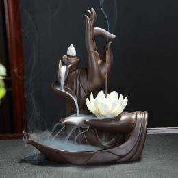 Z 10 sztuk szyszki fioletowy glina kadzidło palnika buddy ręcznie cofaniu kadzidła palnika lotos kadzidła palnika