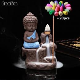 20 sztuk kadzidełka + 1 Pc palnik mały mnich mały budda kadzielnica ceramiczne wodospad cofaniu kadzidła palnika uchwyt na wystr