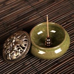 1 sztuk przenośny kadzidło palnika Censer wysokiej kadzidło wtyczka ze stopu miedzi uchwyt kadzidła może być ustalona kadzidełka
