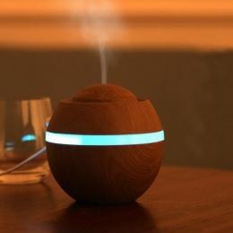 500 ml uchwyt kadzidła nawilżacz powietrza USB Aroma aromaterapia ultradźwiękowy LED 7 zmiana koloru OLEJEK ETERYCZNY dyfuzor Qu