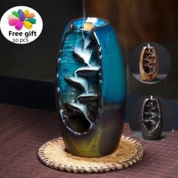 Kadzidło palnika cofaniu kadzidła ceramiczne rzemiosło kadzidła Ddiffuser biuro w domu górskie rzeki rękodzieło uchwyt kadzidła