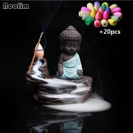 Cofaniu kadzidła palnika ceramiczne mały mnich stojak na kadzidła Home Decor aromaterapia buddy Censer + 20 sztuk kadzidełka
