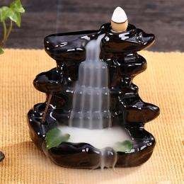 Posąg buddy Incensory kadzidło stożki ceramiczne żar uchwyt kadzidła palnik Zen cofaniu kadzidło palnik smoke + 10 kadzidełka