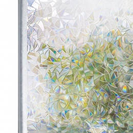 Przyciemniane 3D bez kleju statyczne dekoracyjne okno prywatności Rainbow na szyby bez kleju kontroli ciepła anty UV tonowanie n