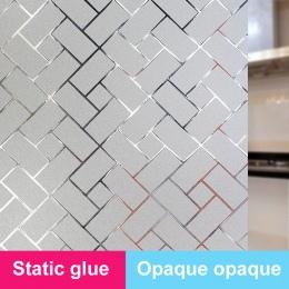 Wystrój naklejki na okna łazienka pcv Decor 45x200 cm dekory domu matowe wodoodporne szkło Film rozmiar 60x200 cm wystrój filmy