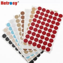 Hetrosy 21 MM pcv samoprzylepne folie dekoracyjne pokrywa dla śruba do mebli pokrywa naklejki dla Minifix, 54 sztuk