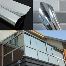 Srebrny/niebieski/złoty dwa sposób, odporne na promieniowanie UV odblaskowe lustro folia okienna folia izolacyjna samoprzylepne
