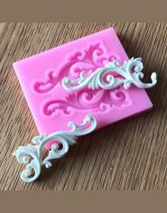 Najlepsza sprzedaż DIY do dekoracji słodyczy i ciast w stylu Vintage ulga granicy silikonowe formy do fondant ciasto dekorowanie