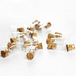HIPSTEEN 50 sztuk 0.5 ml Mini szklana butelka Wishing butelki fiolki puste próbki słoiki z korkową zatyczką korek ślub życzenia