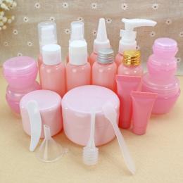 Podróż kosmetyki butelka różowy butelka z rozpylaczem usta butelka dziób krem maska box wash butelki