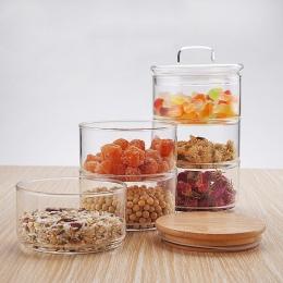 Nowy 1200 ml 3-warstwa Mason Borosilica szklany słoik kuchnia jedzenie duży pojemnik zestaw do przypraw suszone owoce przechowyw