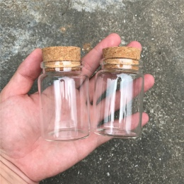 80 ml szklane butelki z korkami małe przezroczyste Mini puste szklane fiolki słoiki pojemnik jasne żywności Botlles ekologiczne