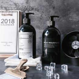 500 ml skandynawski do kąpieli szampon butelka do przechowywania Vogue Chic cieczy balsam butelka elegancki podróży czarny z two