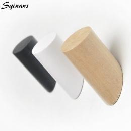 Sqinans z naturalnego drewna wieszak na ubrania do montażu na ścianie wieszak na płaszcze ozdobny uchwyt na klucze kapelusz szal