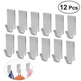 OUNONA 12 sztuk haki na ręczniki wieszak na ręczniki stojaki szata wieszaczki ściany haki do przechowywania do kuchni łazienka k
