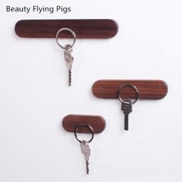Drewna uchwyt na klucz ściany klucz przechowywania organizator silne klucz magnetyczny wieszak klucz pierścień haki, urzędnik dz