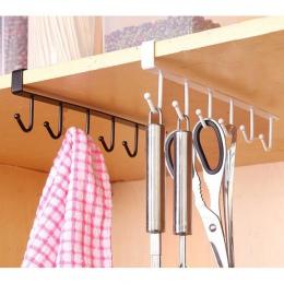 Przydatne szafka kuchenna regał do przechowywania szafka półka hak do zawieszania organizator szafa ubrania szklany kubek półka