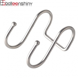 BalleenShiny ze stali nierdzewnej podwójne w kształcie litery S hak do przechowywania dla kuchnia łazienka ściany i drzwi organi