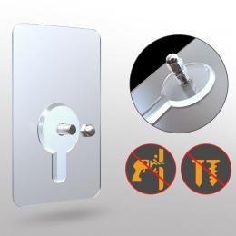 2 sztuk pcv gwoździe samoprzylepne plakat na ścianie bez śladu trzymać hak ścienny trwałe praktyczne przezroczyste solidne samop