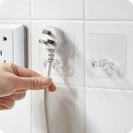2 pc ścienny hak do przechowywania wtyczka gniazdo zasilania uchwyt ścienny samoprzylepne wieszak Home Office 122