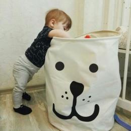 Koszyk piknikowy stojak kosz na bieliznę pudełko do przechowywania zabawek Super duża torba bawełna do prania brudne ubrania duż