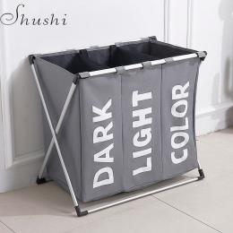 Sushi hotselling wodoodporny trzy siatki do przechowywania bielizny torba na brudne kosz na pranie składany kosz na bieliznę dom