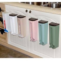 Worek na śmieci dozownik torba wielorazowego użytku pudełko do przechowywania do montażu na ścianie wisi pojemnik na śmieci poje