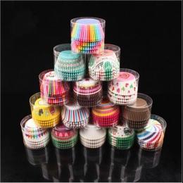 100 sztuk muffiny papierowe foremki do babeczek foremki do pieczenia przypadki pudełka Muffin ciasto puchar dekorowanie narzędzi