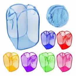 Do prania kosz na bieliznę kosz torba składana do przechowywania siatki pojemnik na zabawki organizacji do przechowywania w domu