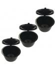 3 sztuk/paczka używać 150 razy kapsułka kawy Dolce Gusto plastikowe kapsułki wielokrotnego użytku wielokrotnego użytku kompatyb