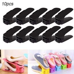 10 sztuk trwałe regulowany organizer na obuwie obuwie wsparcie gniazdo oszczędność miejsca szafka stojak stojak na buty pudełka