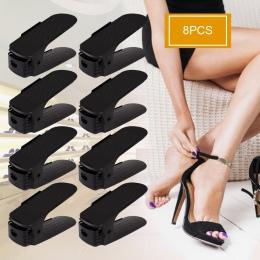 8 sztuk użytku domowego Organizer na obuwie nowoczesne podwójne czyszczenie przechowywania na buty stojak na buty salon wygodne