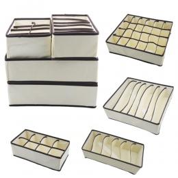 4 sztuk/zestaw składany bielizna Organizer biustonoszy pudełko do przechowywania szuflada szafa organizator Box dla bielizna sza