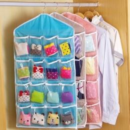 Wieszak na ubrania buty szafy kalesony torba do przechowywania 16 kieszenie składane szafa wiszące torby skarpety figi organizat
