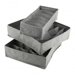 3 sztuk/zestaw bambusa węgiel szafa organizator bielizna biustonosze skarpetki spodenki krawaty szafa przegroda szuflady pudełko