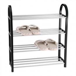 Stojak na buty aluminium Metal stały stojak na buty DIY buty półka do przechowywania organizer do domu akcesoria