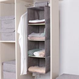 Bawełna szafa szafa szafa organizator wiszące kieszeń szuflady na ubrania odzież organizacja domu akcesoria akcesoria